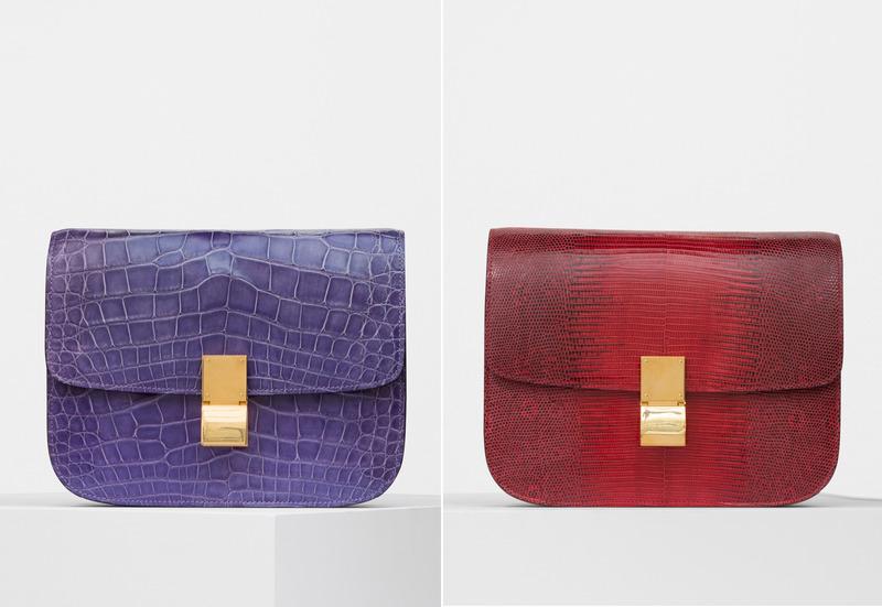 Classic羅蘭紫鱷魚皮肩背手拿包 NT$870,000 & Classic艷紅蜥蜴皮肩背手拿包 NT$215,000