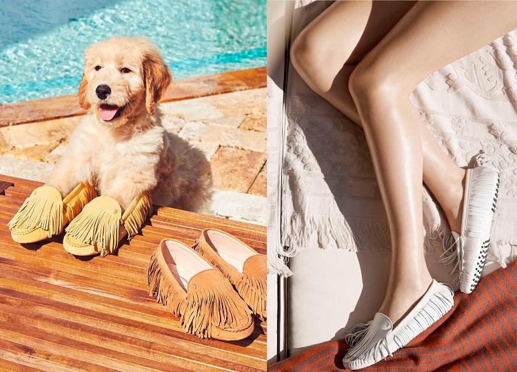 以約克夏狗狗為靈感的經典豆豆鞋