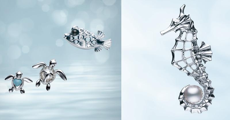 超卡哇伊! MIKIMOTO用珍珠詮釋可愛海洋生物胸針〜