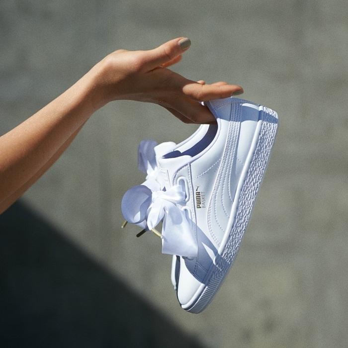 穿膩了Adidas Superstar了嗎?試試Puma緞帶鞋打造甜美潮流風格